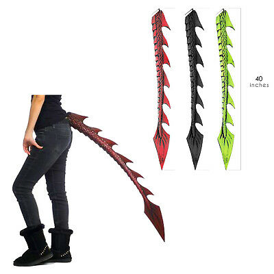 Adult Teen Kids Dragon Halloween Black Green Orange Game of Thrones Costume Tail](Teenage Halloween Games)