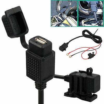 12V 24V Motorbike Motorcycle USB Charger Power Adapter Socket Outlet Waterproof