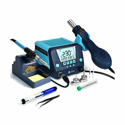 Toauto Ds882 Soldering Station 2 In 1 Soldering Iron Hot Air Gun Rework Stat...