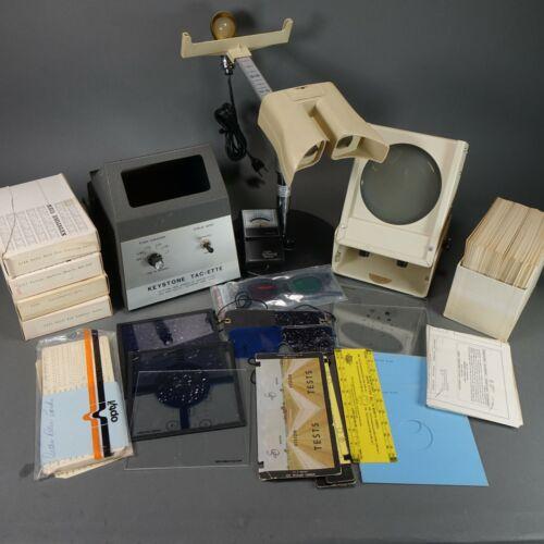Lot of vintage Keystone  Eye Vision Tester Optometrist Tools