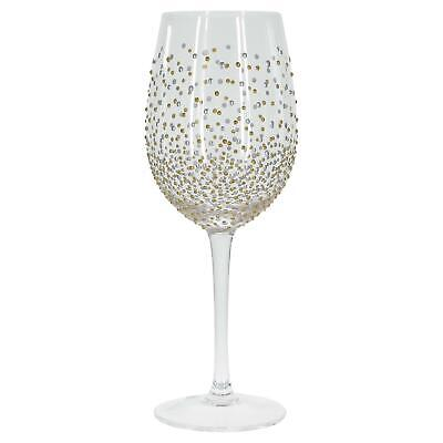 Sunny By Sue Gold Silver Dot Hand Painted Decorative Wine Glass Party Gift Idea](Wine Glass Decorating Ideas)