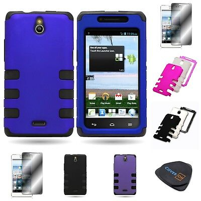 For Huawei Ascend Plus H881C - Dual Layer TPU Plastic Snap On Hybrid Phone Case](phone cases for huawei h881c)