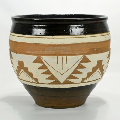 """Vintage Sioux Pottery SP RC SD Native American 9 1/2"""" Jardiniere c1960-70s Rare"""