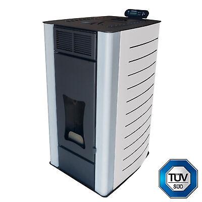 Estufa de pellets 18 kW Nemaxx PW18-WT Calentador de agua para pellets...