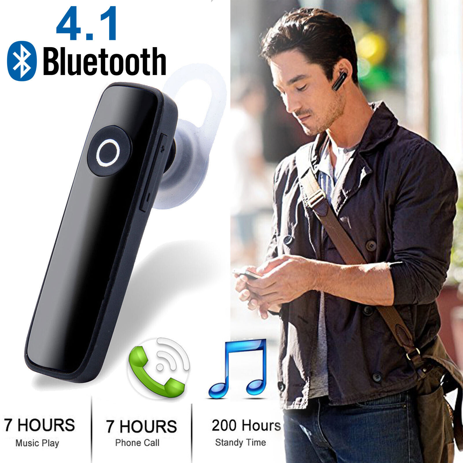 Bluetooth Headset Wireless in-ear Stereo Headphones Handfree
