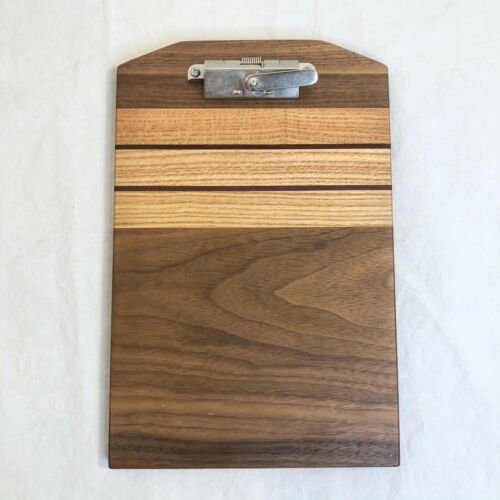 Small Handcrafted Wooden Clipboard 9x6 Gorgeous Browns EUC