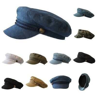 Men Sailor Captain Fisherman Cap Yacht Boat Costume Fiddler Hat Unisex Fashion