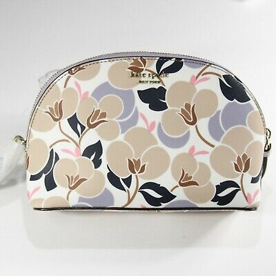Kate Spade New York White Floral Cosmetic Bag   NWT