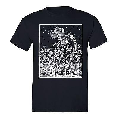Men's La Muerte Sugar Skull Day of the Dead Mexican Dia Los Muertos T-shirt S-5X](Halloween Day Deals)