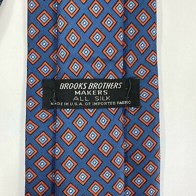 BROOKS BROTHERS Makers Mens Tie All Silk Dark Blue 57