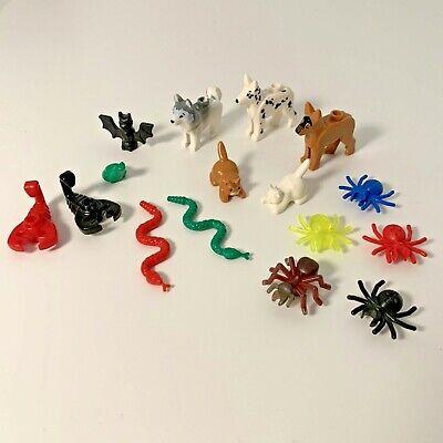Lego Animals Bundle - Lego Friends City Zoo Dog Cat Spider Snake Bat Frog Set