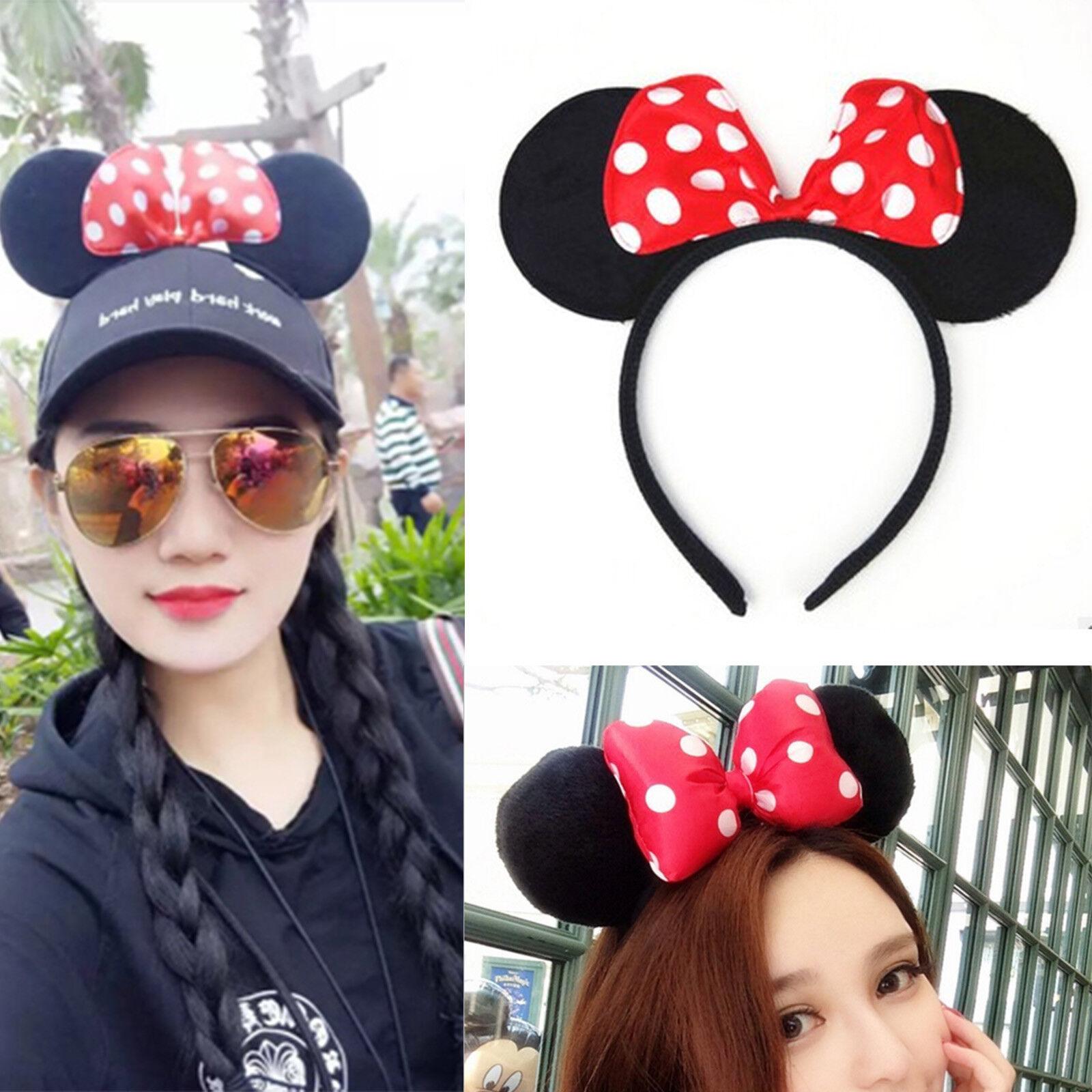 ce50859b3a9 Mickey Mouse Ears Black Mouse Ears Boys And Girls Disneyland Trip Minnie UK