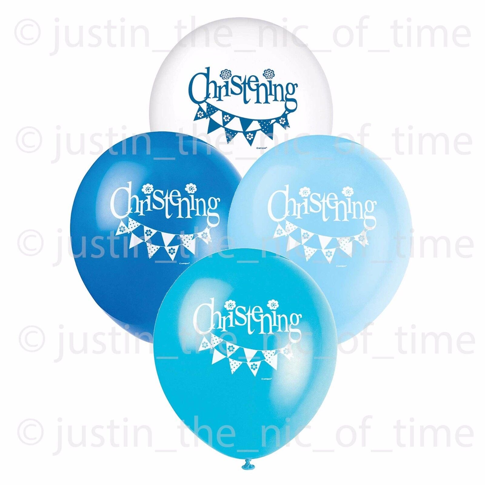 blue christening boy party balloon decorations 12 latex. Black Bedroom Furniture Sets. Home Design Ideas