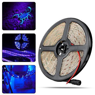 3528 UV Ultraviolet Purple Waterproof 60LED/M Strip Lamp Black Light DC 12V