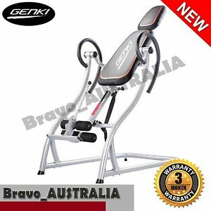 Gravity Inversion Table Padded Upside Down Back Pain Exercise Home Gym Fitness