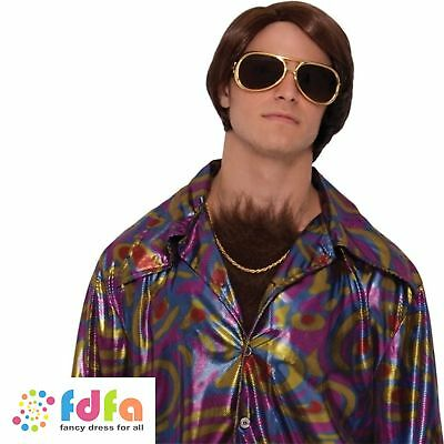 Chest Hair Fake Disco 70s Hairy Mens Adults Fancy Dress Costume Accessory](Fake Chest Hair)