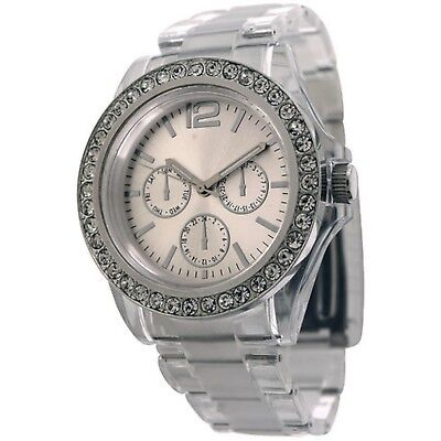 Plastic Case Watch (NEW FMD By Fossil FMDCT385 Womens Analog Watch Three Hand Plastic Band)
