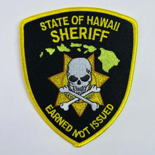 Hawaii Sheriff Earned Not Issued Skull & Crossbones Patch