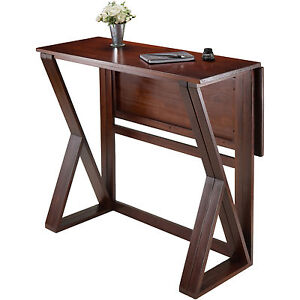 drop leaf dining table for small spaces counter height kitchen furniture pub - Drop Leaf Table Kitchen
