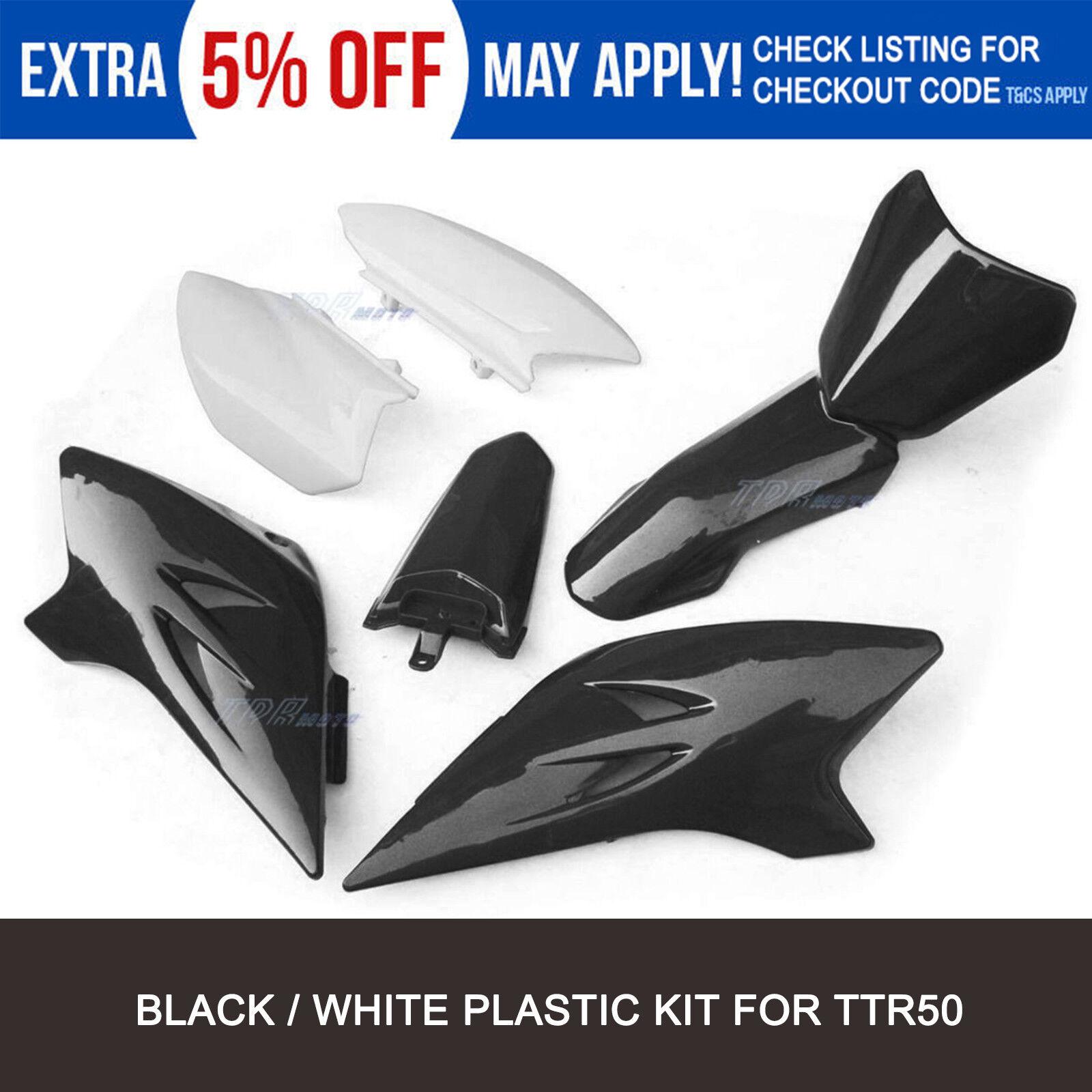 NEW TTR50 WHITE FENDER FAIRING PLASTICS KIT MOTOR DIRT PIT BIKE YAMAHA TTR 50