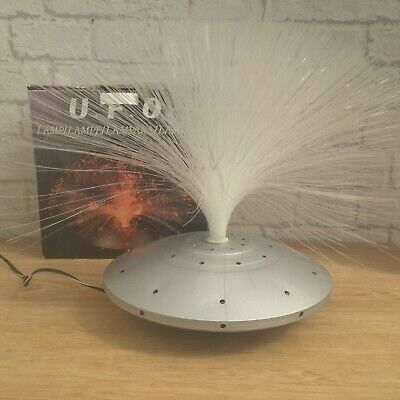 VINTAGE RETRO UFO COLOUR CHANGING ROTATING FIBRE OPTIC LAMP