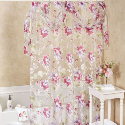 Popular Bath Flower Haven Collection – 70″ x 72″ Bathroom Shower Curtain Bath