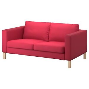 Ikea Karlstad loveseat cover 2 seat seater sofa Slipcover Sivik Pink Red New NIP