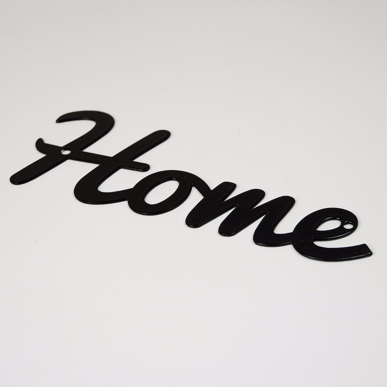 Black Flat Cut Metal Silhouette Wall Art Letter Plaque Sign Indoor /& Garden