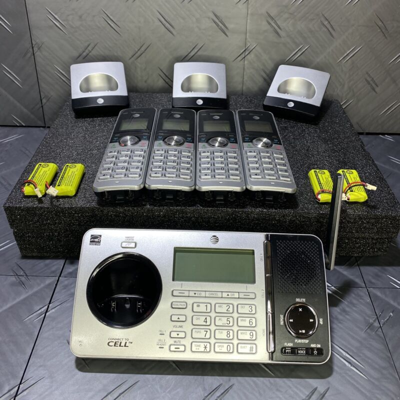 AT&T 4 Digital Phone Dect 6.0 Handset Connect to Cell Answering System TL96456