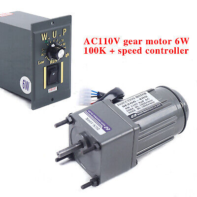 110v 6w Ac Gear Motor Electricvariable Speed Reduction Controller 13.5rpm 1100