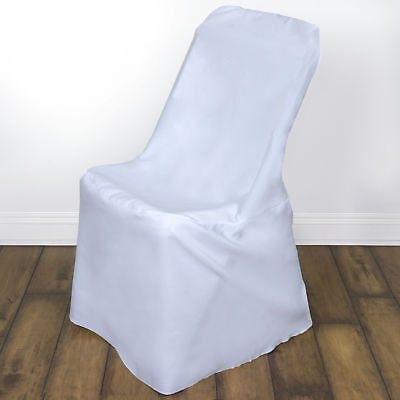 10 White LIFETIME FOLDING CHAIR COVERS Wedding Party Discounted Decorations - Discount Wedding Decorations