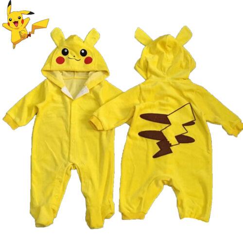 pikachu baby newborn hoodies romper jumpsuit playsuit