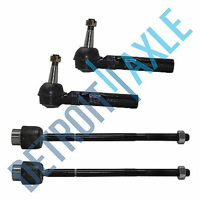 All 4 New Front Inner  Outer Tie Rod Ends for 1997 2005 Chevrolet Pontiac
