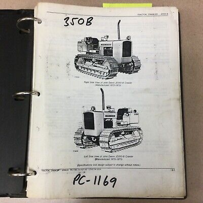 John Deere 350b Parts Manual Catalog Book List Crawler Bulldozer Tractor Pc-1169