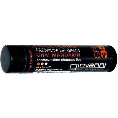 Mandarin Lip Balm - Giovanni - Street Chic Premium Lip Balm Chai Mandarin 35 SPF - 0.15 oz.