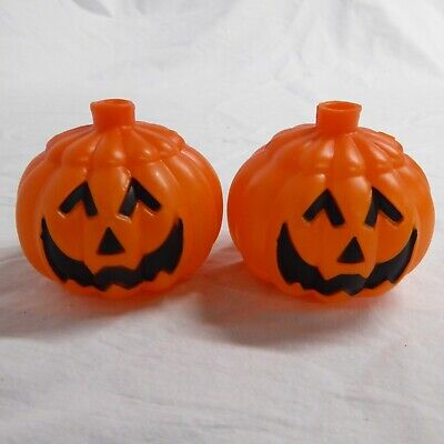 Jack-O-Lantern Blow Mold String Light 2 COVERS ONLY Vintage Halloween Pumpkins