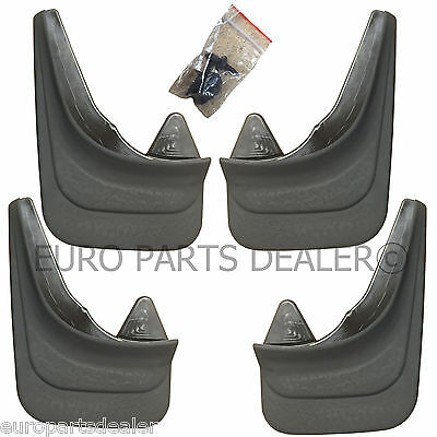 Set of 4x Rubber Moulded Universal Fit MUD FLAPS GUARDS FORD and KIA models