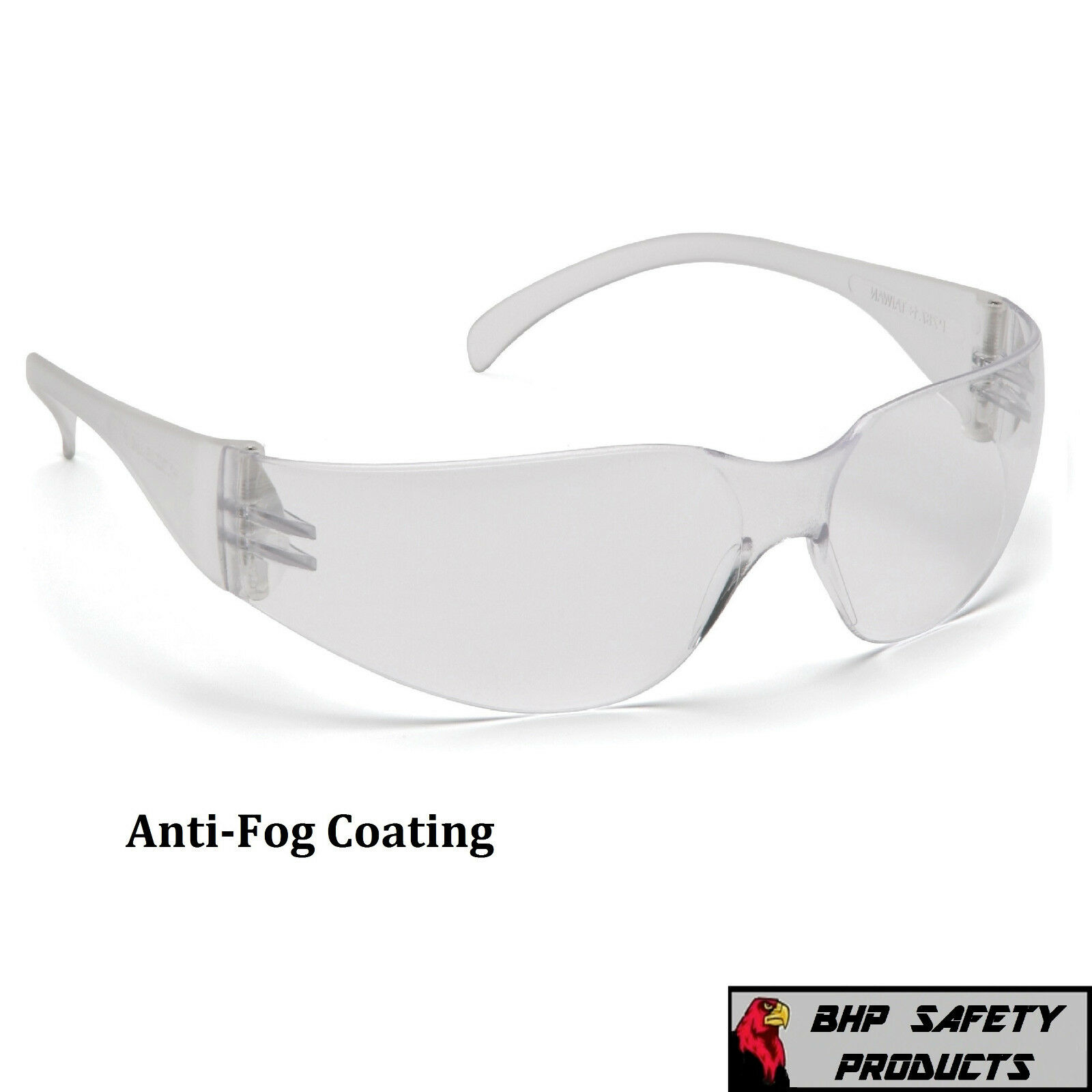 PYRAMEX INTRUDER SAFETY GLASSES ANSI Z87+ WORK EYEWEAR - LIGHTWEIGHT, SUNGLASSES Clear Anti-Fog S4110ST