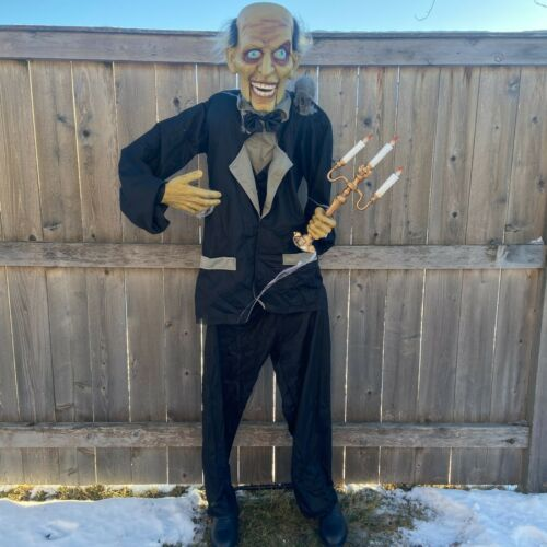 Animated 6ft Life-Size Butler w/ Candelabra *NEW* - PAC Halloween 2020
