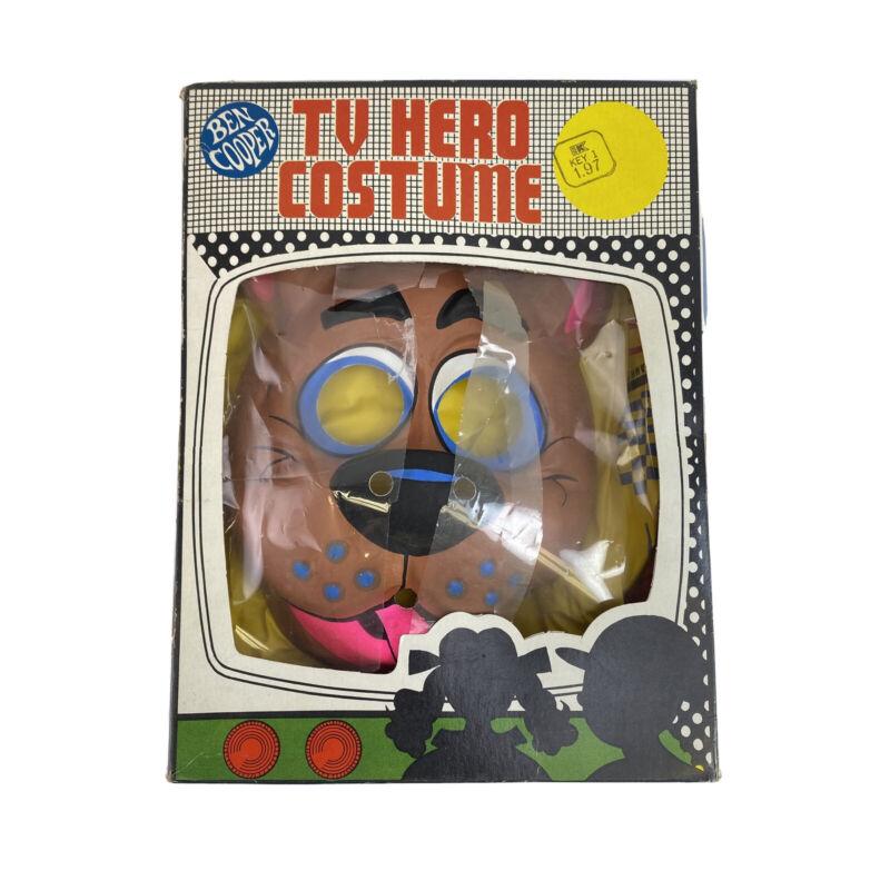 VTG 1971 Ben Cooper SCOOBY DOO Vinyl Costume & Mask In Box Childs Medium