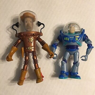 Toy Story 2 Aqua Action Figure Bundle 1998 Vintage Buzz Woody Squirtin Water for sale  Shipping to India