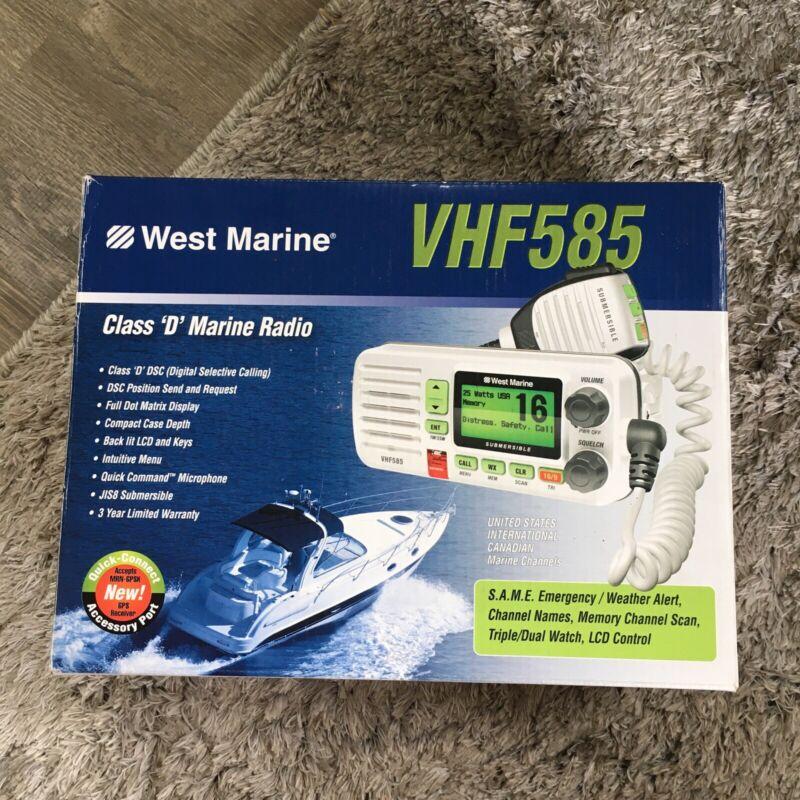 West Marine VHF585 Marine Radio White Class D NEW In Box