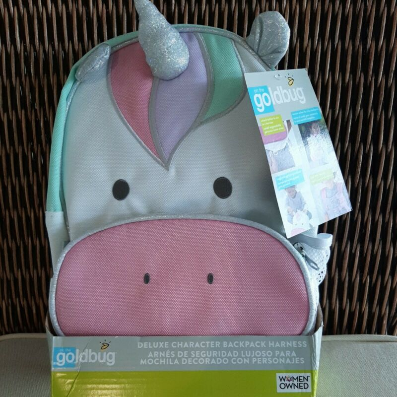 On The Go Gold Bug Deluxe Character Backpack Harness Unicorn - New With Tags