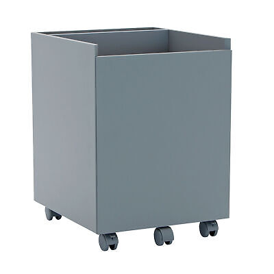 Calico Designs Niche Mobile Wooden Rolling Home Office File Cabinet Gray Used