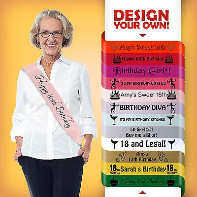 80th Geburtstag 70 Today Party Geschenk Schärpe Deko Alle Farben Günstig Neu