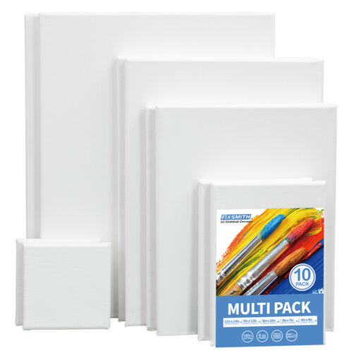 """Canvas Panel Multi Pack-4x4"""",5x7"""",8x10"""",9x12"""",11x14"""" (2 of Each),Set of 10"""