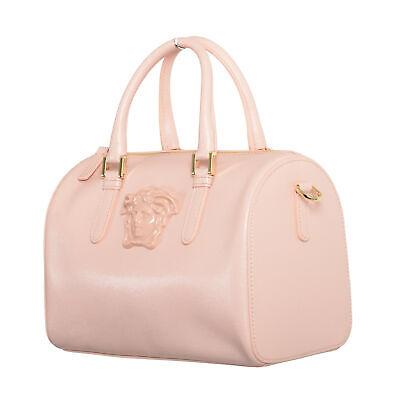 Versace Women's 100% Saffiano Leather Light Pink Handbag Shoulder Bag