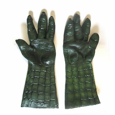 Green Alien Reptile Dragon Latern Adult Halloween Costume Accessoy Hands Gloves