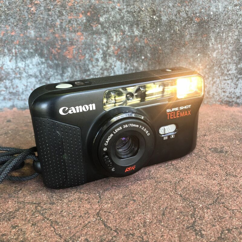 Canon Sure Shot Telemax Point and Shoot Film Camera 38/70mm Lens Works