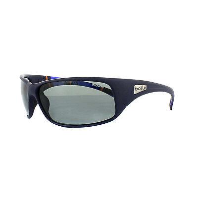 Bolle Sonnenbrille Rückstoß 11966 Matt Blau Streifen Modulator Grau Polarisiert